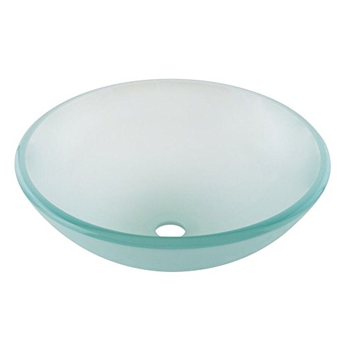 QIERAO Glass Vessel Bathroom Vanity Sink (Frosted)