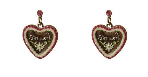 weltweit verkauft hochwertiges Design Super günstig Trachtenschmuck Dirndl Lebkuchenherz Ohrringe Pink ...