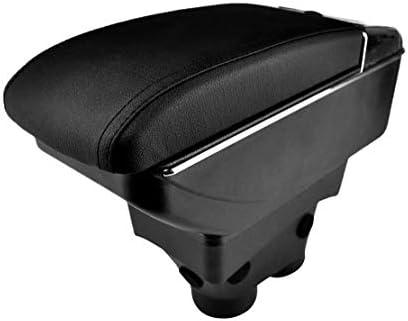Eastar Dual Layer Mittelarmlehne Aufbewahrungsbox Armlehne Mit Kunstlederpolsterung Für Peugeot 208 2013 2018 Auto