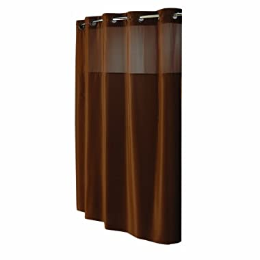 Hookless Fabric Shower Curtain, Brown