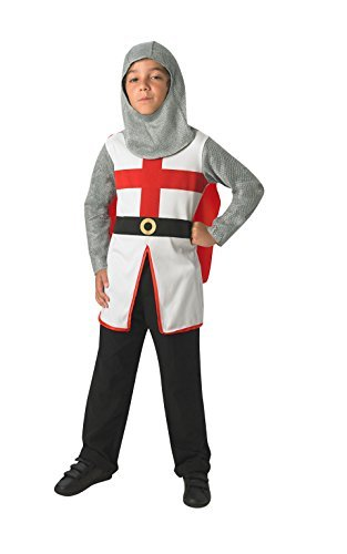 Fancy Dress - St George Knight Costume - CHILD MEDIUM - St George Knight Costume