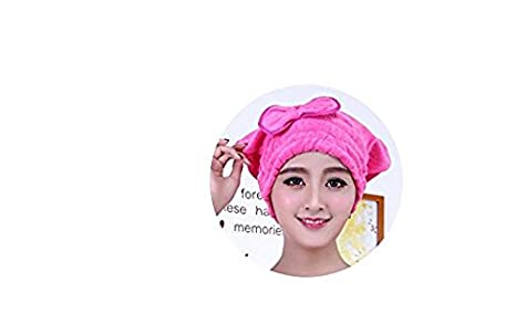 Amazon.com: Anna.W Microfiber Towel Bow-knot Bathrobes Womens Bath Shower with Dry Hair Cap Hat Towel Women Bath Towels: Home & Kitchen