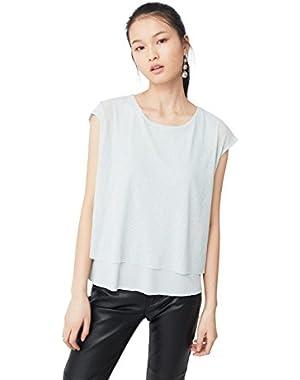 Mango Women's Ribbed T-Shirt