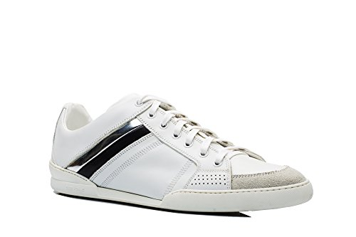 Dior Homme Men's Leather Suede Low Top Sneaker Shoes White - Mens Dior Shoes
