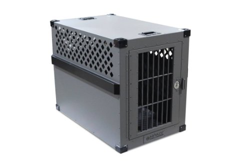Impact Dog Crate (Stationary), 400 Model, Large, Customer Assembled, Grey in Color