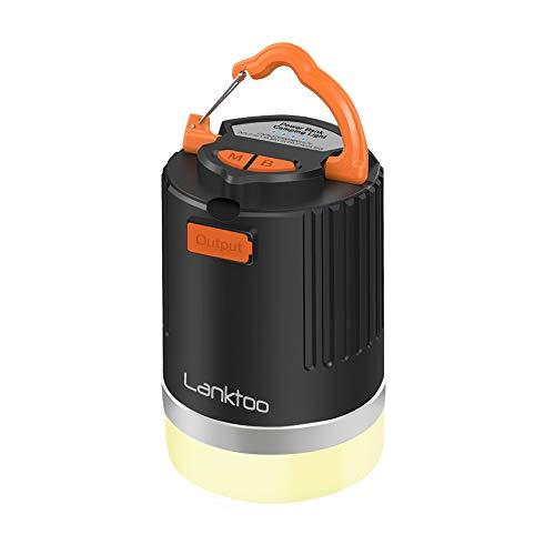 8800mAh IP65 Lanktoo 2-in-1 Waterproof LED Camping Lantern /& Power Bank Charger