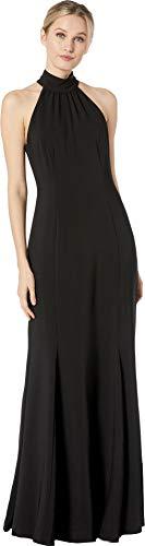 Alexia Admor Women's High Neck Sleeveless Gown Black 6