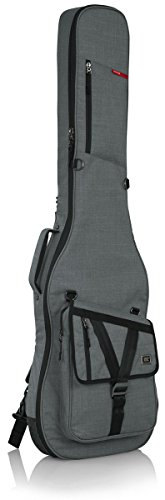 Electric Padded Bass (Gator Cases Transit Series Bass Guitar Gig Bag; Light Grey Exterior (GT-BASS-GRY))