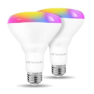 LED Flood Light Bulbs, WiFi Smart BR30 Bulb, Works with Alexa Google Home, RGBW Color Changing Lights, 9.5W=65W, 800 Lumens, Dimmable Recessed Can Light Bulbs, E26 Base (2 Pack)
