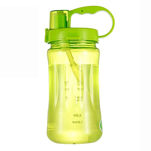 Glad You Came 1L/2L Black Oversized Water Bottle 1000ml/2000ml Fashion Portable Herbalife Nutrition Custom Shake Sports Water Bottle,1000ml Green