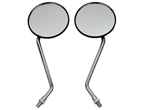 Motorcycle Body Parts Outside Rear View Rearview Left & Right Side Silver Racing View Mirrors Kit Fit For HONDA CT110 CG125 XL250 XL400
