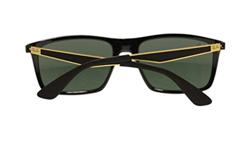 Ray Ban Mens Sunglasses RB4228 622771 Black Green Lens 58mm Authentic