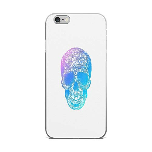iPhone 6 Plus/iPhone 6s Plus Case Clear Anti-Scratch Rainbow Scribble Skull Cover Phone Cases for iPhone 6 Plus iPhone 6s Plus]()