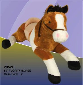 - Jumbo Floppy Horse Plush with Saddle- 54