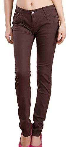 Slim Jeans Leggings Stile Matita Autunno Pantaloni Lunghi Trend Elasticità Donna Sottili Skinny Snone Caffee Casual Corti A xwq0zPfXW