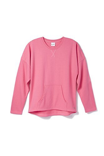 Soffe Women's French Terry Throwback Crop, Neon Pink, (Terry Pullover Top)