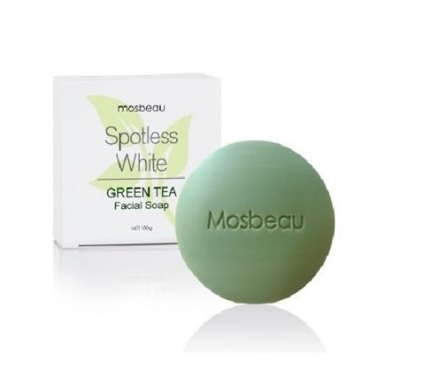 Authentic Mosbeau Spotless Green Tea Facial Soap reduces pores and solves skin problems like blemishes, pimples, allergy, dry skin and dead skin cells.