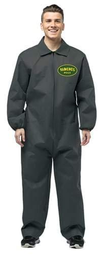 (Rasta Imposta Men's Breaking Bad Vamanos Pest Control Jumpsuit, Black, One)