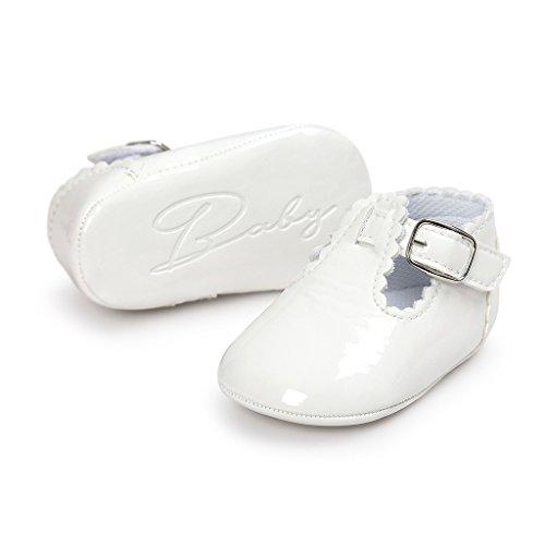 Etrack-Online  Baby Mary Jane Shoes, Baby Mädchen Lauflernschuhe Weiß
