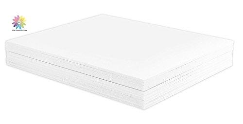 Mat Board Center, Pack of 10 1/8 White Foam Core Backing Boards (12x16, White) by MBC MAT BOARD CENTER