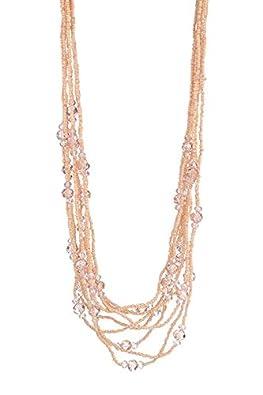 LIZAS Halskette Pretty Pink Pearls 75cm rosa