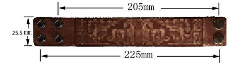 EUEAVAN Medieval Flower Lily Fleur de Lis Phenix Symbol Leather Gift Bracelet