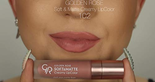 Amazoncom Golden Rose Soft And Creamy Matte Liquid Lipstick 102