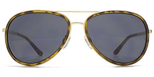 Animal La ligne de lunettes de soleil aviateur métallique & plastique en or ANI036 Grey
