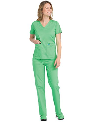 59271a2aa36 Jual Med Couture Signature Women's V-Neck Knit Panel Scrub Top ...