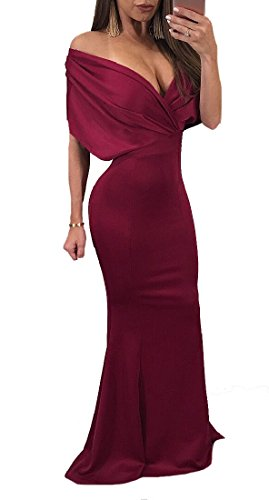 Women Tunic Coolred Long Beach Skinny Sexy Dress Red Wine dHxWx16