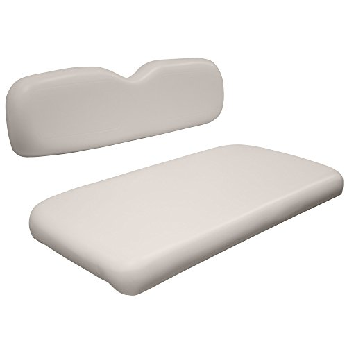 Duty Bases Heavy Covered Vinyl (Wise WG004-7741 EZGO TXT/Medalist Golf Cart Front Seat Complete Set, Avalon White)