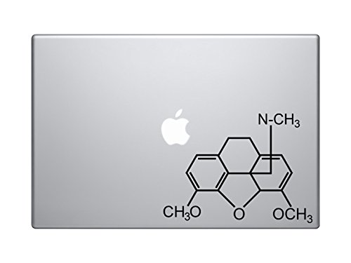hydrocodone-vicodin-molecule-molecular-model-7-black-vinyl-decal-sticker-car-macbook-laptop