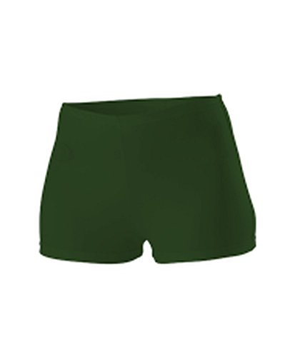 Alleson WOMENS CHEERLEADING BOY CUT BRIEF DARK GREEN M C301 C301-DG-M (Briefs Cut Cheerleading Boy)