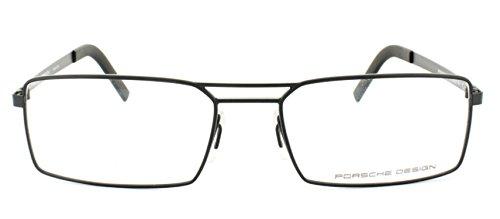 Men Eyeglasses Porsche Design P8282 Full Rim 55 mm Rectangular Metal (Black - Glasses Eye Porsche