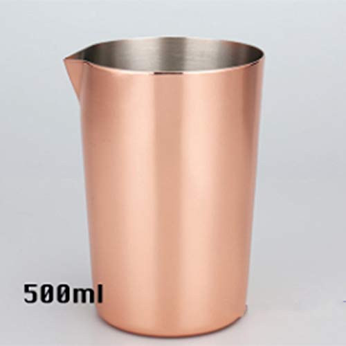 SODIAL Stainless Steel Stirring Cup 500Ml Cocktails Cup Moscow Dice Cup Bartending Tool Bar Cocktail Glass Coffee Milk Tea Cup Mixing Glass