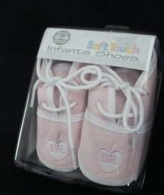 Bebé niña zapatos rosa–