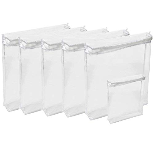 Houseables Plastic Storage Bags, Zipper Case, 18