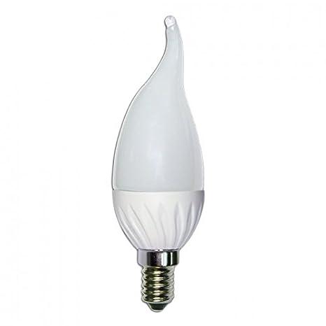 Bombilla de Vela Lujo LED de 4W rosca E14 luz blanca 5000ºK 240 Lm.: Amazon.es: Iluminación