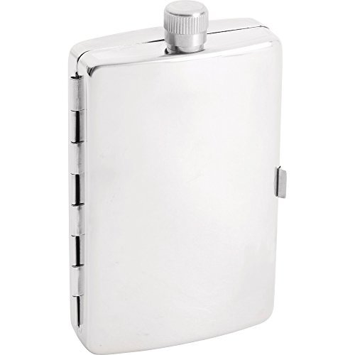 (Maxam 2.5oz Stainless Steel Flask with Cigarette Holder by Maxam)