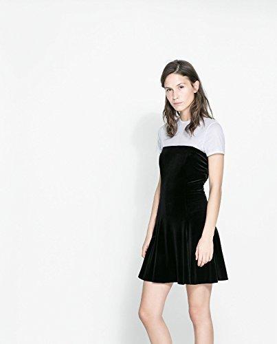 ef3454f71880 Zara donna in Velluto Nero cartamodello per vestiti  media  Amazon.it   Abbigliamento