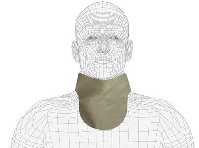 No Binding Unattached Thyroid Collar, Regular Lead, 0.5mm Pb Lead Equivalency, Charcoal