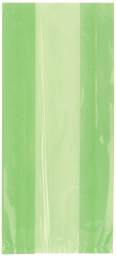 Lime Green Cellophane Bags 30ct