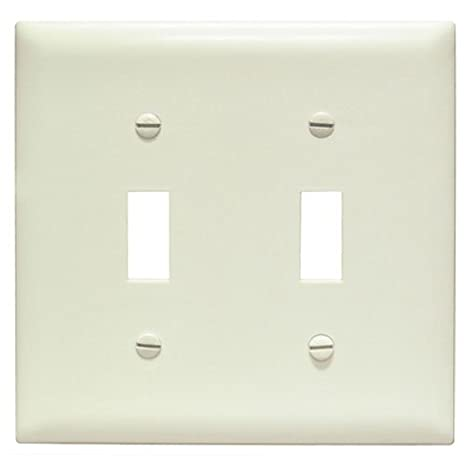 PASS /& SEYMOUR 1 Gang Light Almond Plastic Toggle Switch Wall Plate Unbreakable