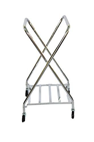 ASP Medical Chrome Adjustable Folding Hamper