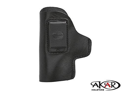 Akar Colt 1911 Commander & Clones IWB Inside Pants CCW Clip-On Holster- Choose Your Color & Hand (Black - Left Hand)