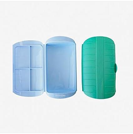 UNIVERSALBLUE Estuche de Vapor Silicona | Vaporera Verde | Capacidad 400ml 1-2 Personas: Amazon.es: Hogar