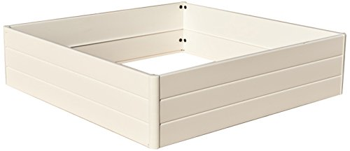 NUVUE Products 26007 Raised Garden Bed, 44.5'' x 44.5'' x 11.5'', white by Nuvue