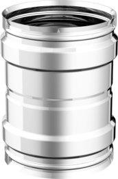 Articolo fumisteria Linea Legna e pellet:manicotto F/F, spessore 0,5 mm acciaio inox, diametro 80 mm APROS
