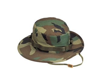 (Rothco Rip Stop Boonie Hat, Woodland Camo, Size)