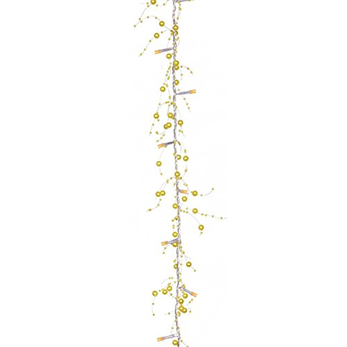 Vickerman Pre-Lit LED Yellow Beaded Artificial Christmas ...
